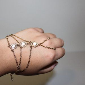 Light Pink and Gold Bracelet Hand Jewelry